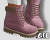 [zuv] ankle boot pink