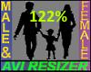 122% Tall