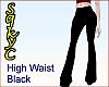 High Waist Black Flares