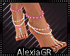 [A] Feet Pink Jewels