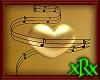 3D Music Heart Gold