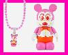 Pink Disney Necklace