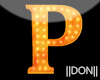 P Orange Neon Lamps