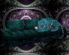 teal tiger couch