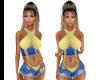 Zoe Yellow Jean Top