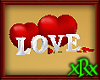 Love Blocks Hearts Rose