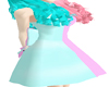 Lolita blue pink dress