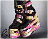 Pink Glitter Camo Boots