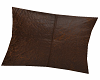 Throw Pillow Brn Leather