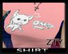 [ZTY] T-shirt pink Cat