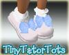 Blue PolkaDot Doll Shoes