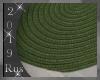 Rus: Olive Oval Rug