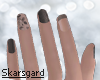Beige & Grey Small Nails