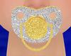 [E] Gold Silver Pacifier