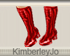 Go Go Boots Red