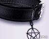 ! Pentagram Necklace Blk