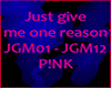 P!NK JUST GIVE ME A REAS