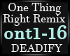 One Thing Right Remix