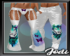 Teal TIger Chain Flares