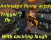 Animated Flying Witch