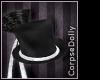 [c] Silvr glitter Tophat