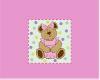 baby girl bear mat