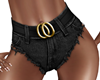Black Shorts + Belt