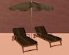 Beach Lounger Set