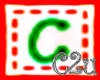 C2u letter C Sticker