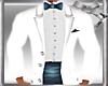 Tux  Top White/Blue Tail