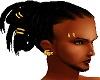 Short dreads & gold