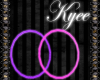 Neon Purple/Pink Hoops