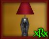 Skeleton Casket Lamp red
