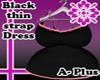 [Blk]Thin strap dress