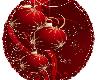 Red Ornmnt Christmas Rug