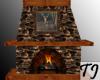 ^TJ^Cabin Fireplace