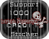 Support Sticker 1000 cr.