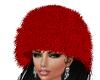 WINTER FUR HAT RED