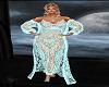 Lace Dressing Gown Mint