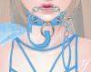 Y| Collar + Chain Blue