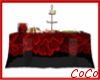 Red Black Buffet Table