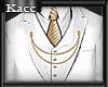 *Kc*Gold-white suit