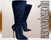 Blue Crystal Heel Boot