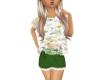 Girls Green Shorts