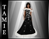 """mystic"" Black xmas Gown"
