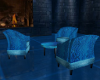 Mystic Blue Chairs/Table