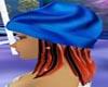 **SA71**Blue silky cap