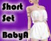 ~BA White Lace Short Set