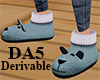 (A) Dog Slippers Male