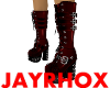 MEN-GOTH BOOTS -RED-